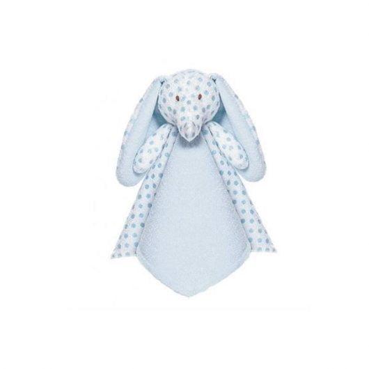 Nusseklud med navn - big ears elefant i lyseblå