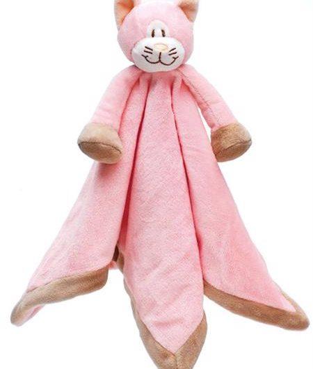 Nusseklud med navn - lyserød kat