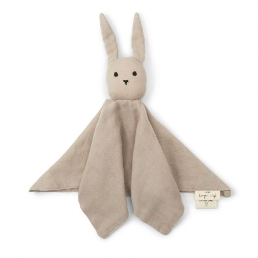 Konges Sløjd nusseklud, Sleepy Rabbit - Dark Clay