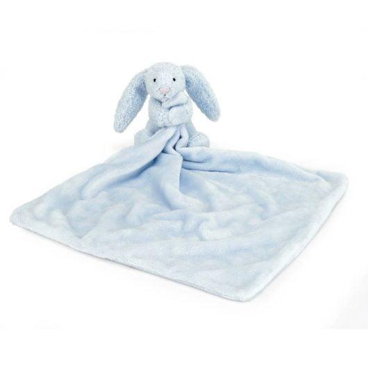 JellyCat Bashful blå kanin nusseklud