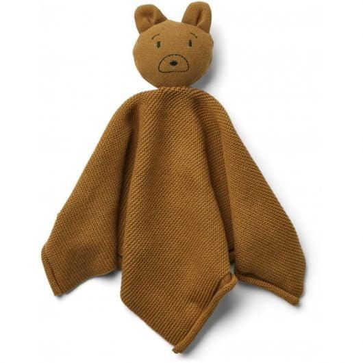 Liewood Milo Strik Nusseklud Mr Bear - Golden Caramel