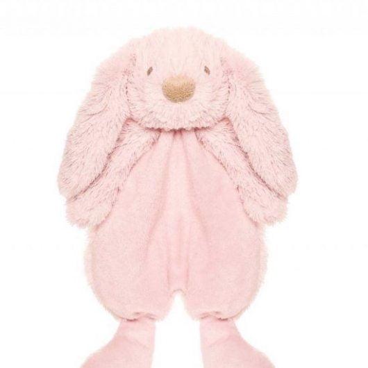Lyserød slaske kanin/ nusseklud fra Teddykompaniet