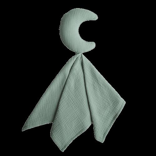 Mushie Nusseklud - Lovey Blanket Moon Roman Green