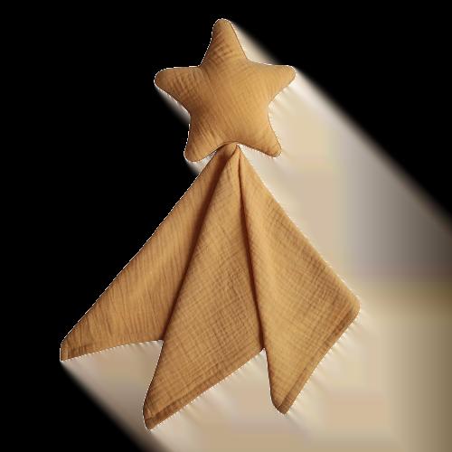 Mushie Nusseklud - Lovey Blanket Star Fall Yellow