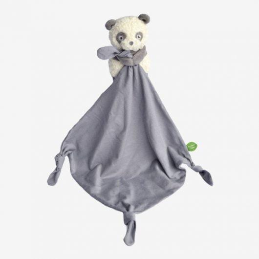My teddy Økologisk Panda nusseklud - Grå