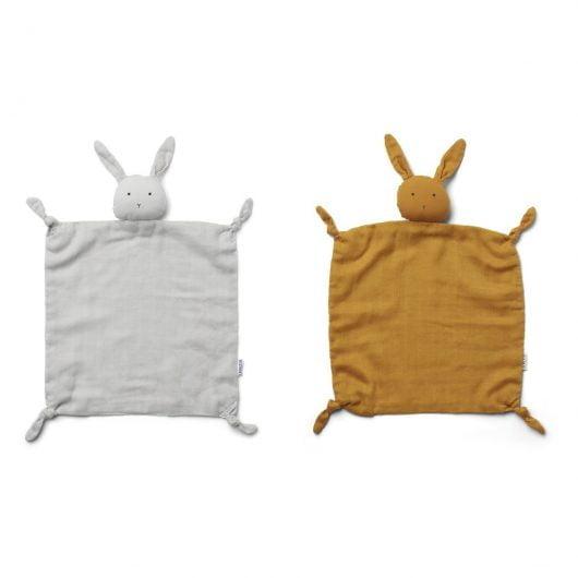 Liewood nusseklud, AGNETE 2-pk - Rabbit Dumbo Grey/Mustard Mix